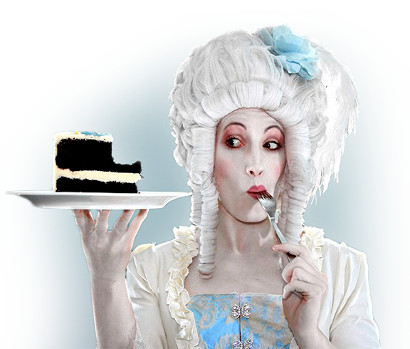 Clown eating cake